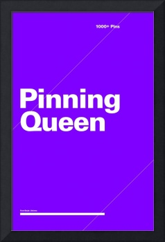 Pinning Queen typographic poster - Purple and Whit