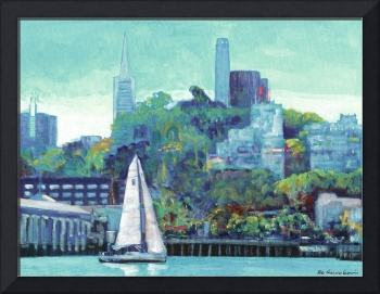Sailing Pioneer Park and Coit Tower San Francisco