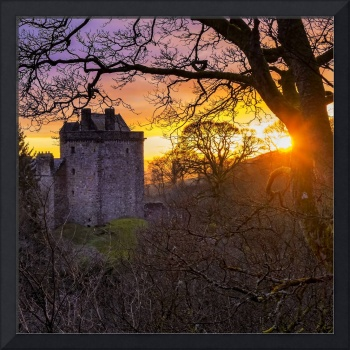 Sunset over Castle Campbell