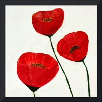 Decorative Poppies Acrylic Painting C62017