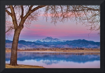 Peaceful Early Morning First Light Longs Peak View