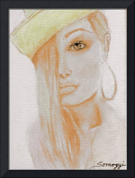 BLOND HAIR, YELLOW HAT/COPPER