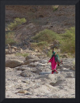 Oman - woman in the landscape