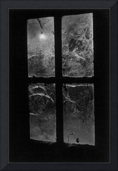 Window, Castle Frankenstein (b/w photo)
