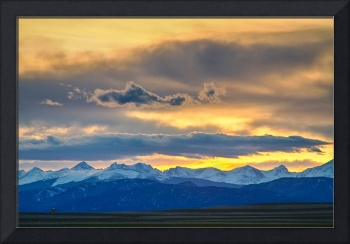 Colorado Rocky Mountain Front Range Sunset Gold