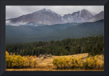 Mount Meeker And Longs Peak Autumn Scenic View