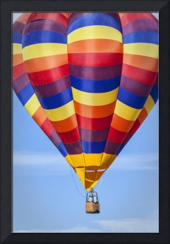 Hot Air Balloon with Radiant Colors