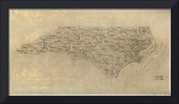 Vintage Map of North Carolina (1893)