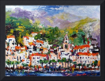 AMALFI - Italy Oil Painting by Ginette Callaway