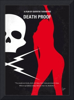 No018 My Death Proof minimal movie poster