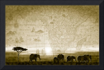 Old World Africa Antique Sunset