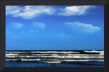 Texas Seascape Digital Painting H5517