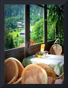 Austrian Cafe Window