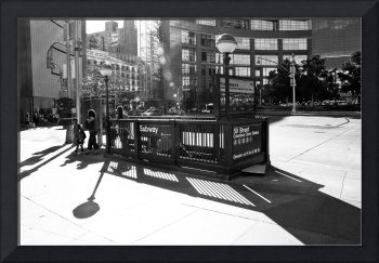 Subway Entrance Columbus Circle
