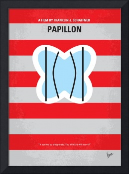 No098 My Papillon minimal movie poster