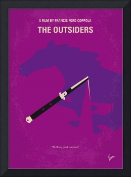No590 My The Outsiders minimal movie poster