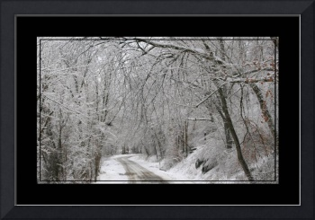 Winter country Lane