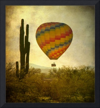 Hot Air Balloon over the Desert
