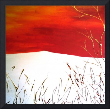 Red, Gold, Bronze Abstract Piece