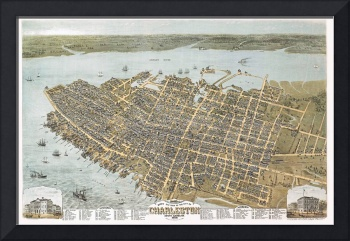 Charleston South Carolina Panoramic Map