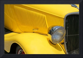 Yellow Antique Car