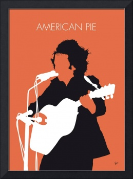 No143 MY DON MCLEAN Minimal Music poster