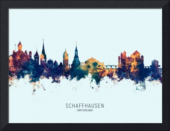 Schaffhausen Switzerland Skyline