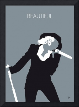 No147 MY Christina Aguilera Minimal Music poster