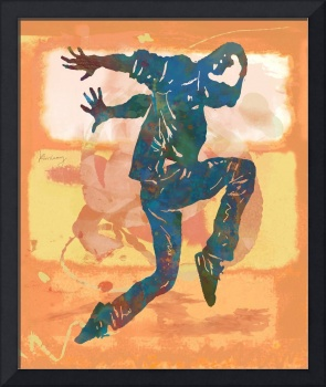 Hip Hop Street Dancing Pop Stylised Art Poster