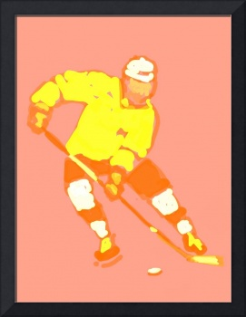 Hockey Left Wing yellow orange peach (c)