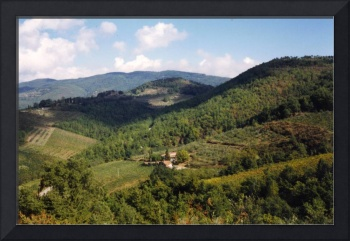 View of Tuscan Countryside, Italy