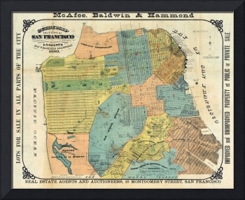 Vintage Map of San Francisco (1890)