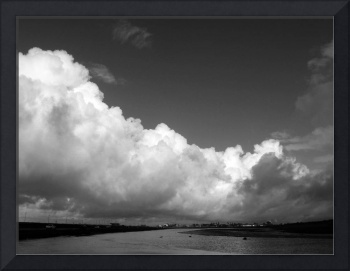 White Clouds over the Wetlands