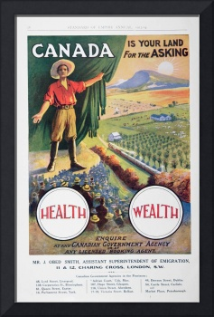 Vintage Poster Promoting Canada