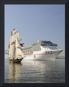 Cruise Ship Carnival Pride and Schooner Pride of B