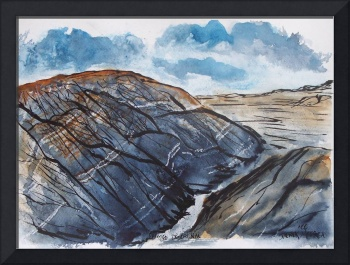 painted desert landscape painting