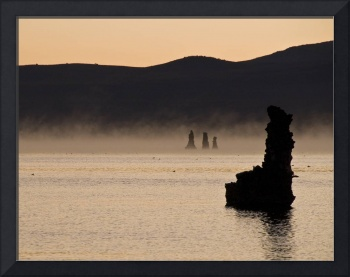 Mono Lake Sunrise and Fog