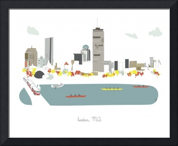 Boston Modern Cityscape Illustration