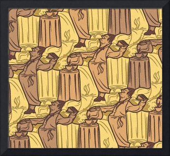 coffee waiter tessellation