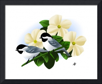 Black Capped Chickadee Art