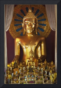 Buddhist Statue In Wat Phra Singh Temple Chiang M