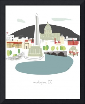 Washington DC Modern Cityscape Illustration