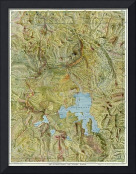 Vintage Map of Yellowstone National Park (1898)
