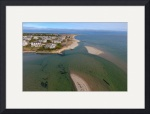 Buck's Creek Inlet Aerial at Chatham, Cape Cod by Christopher Seufert