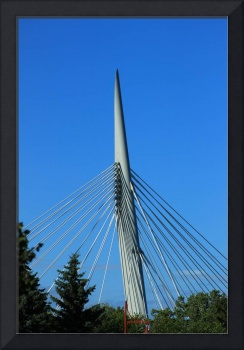 Spire and Cables on a Bridge