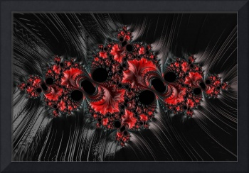 Red on Black - A Fractal Abstract