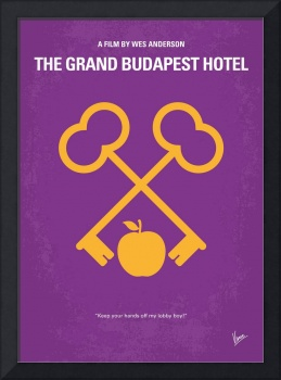 No347 My The Grand Budapest Hotel minimal movie po