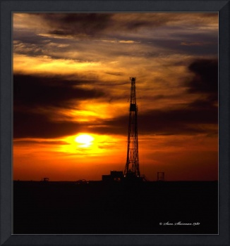 Oklahoma Oil Rig Sunset
