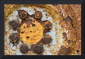 Rusted Wheel With Bolts