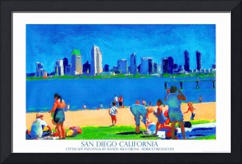 San Diego Art California Poster by Riccoboni